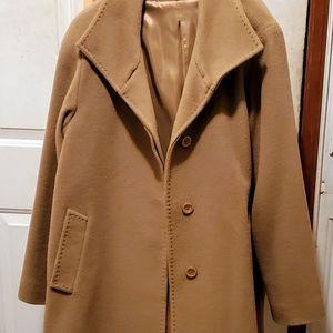 Cinzia Roca tan wool cashmere blend coat